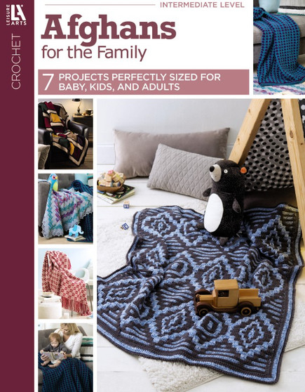Leisure Arts Afghans For The Family Crochet Book