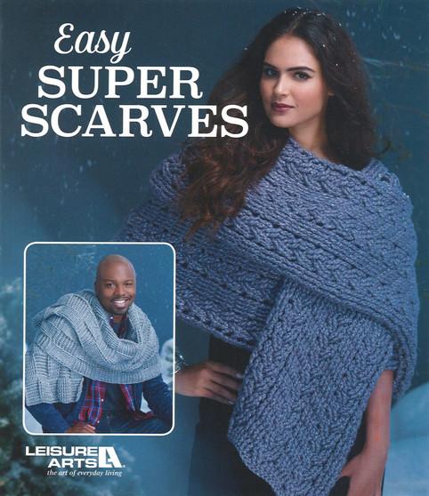Leisure Arts Easy Super Scarves Crochet Book