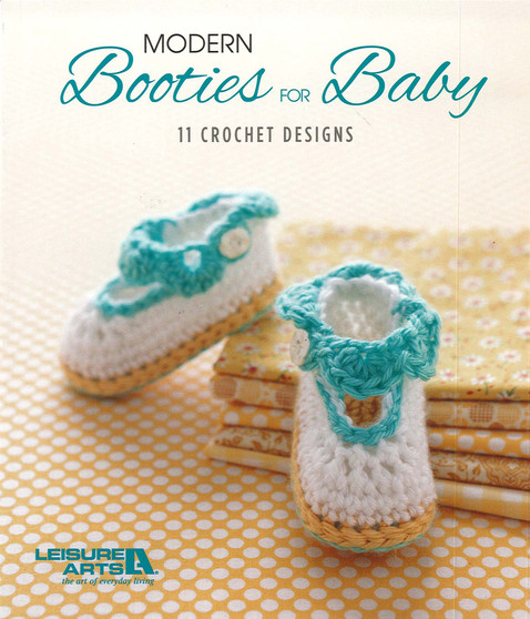 Leisure Arts Modern Booties For Baby Crochet Book