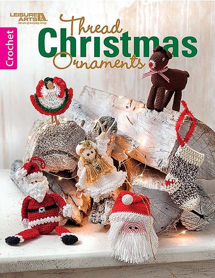 Leisure Arts Thread Christmas Ornaments Crochet Book