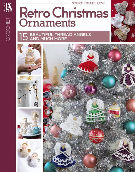 Leisure Arts Retro Christmas Ornaments Crochet Book