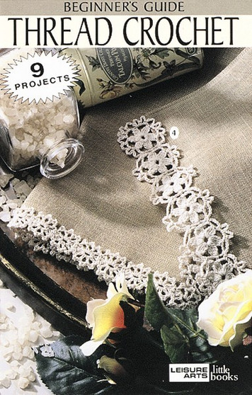 Leisure Arts Beginner's Guide Thread Crochet Book