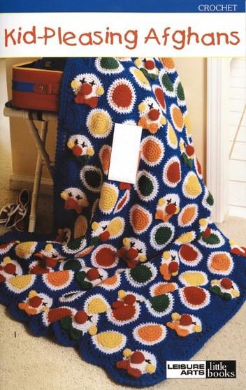 Leisure Arts Kid Pleasing Afghans Crochet Book