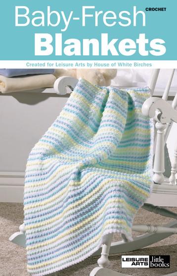 Leisure Arts Crochet Baby Fresh Blankets Book
