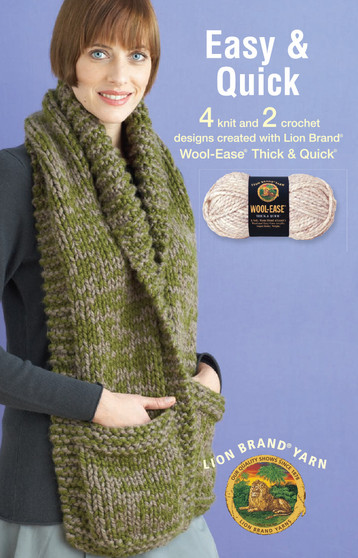 Leisure Arts Lion Brand Easy And Quick Knit Book