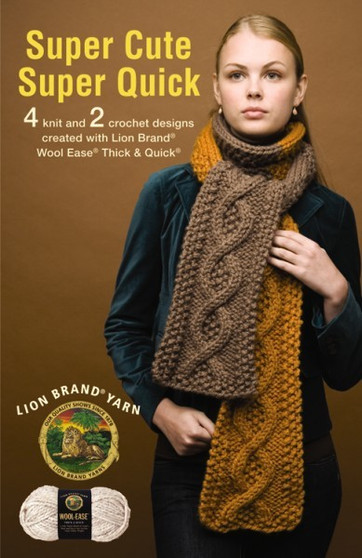 Leisure Arts Lion Brand Super Cute Super Quick Knit Book