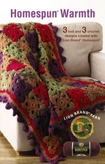 Leisure Arts Lion Brand Homespun Warmth Knit Book
