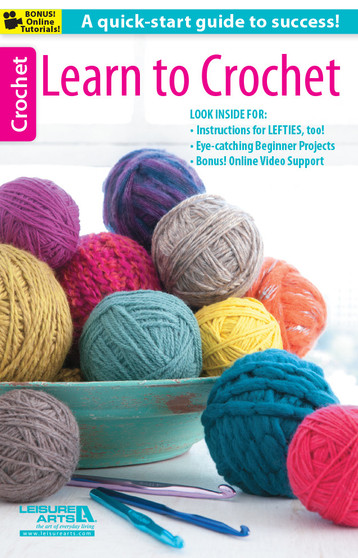 Leisure Arts Learn To Crochet Book