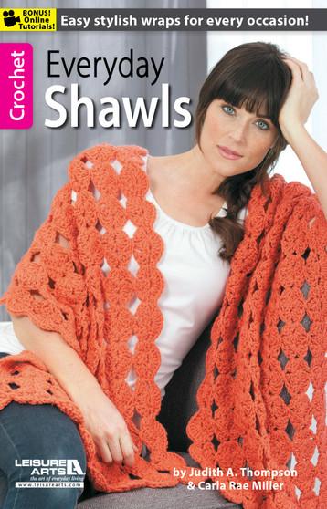 Leisure Arts Everyday Shawls Crochet Book