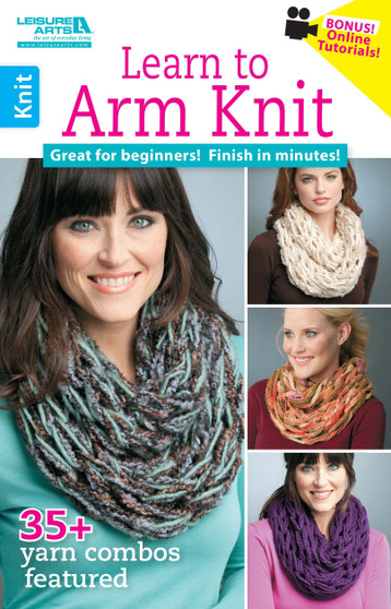Leisure Arts Learn to Arm Knit Book