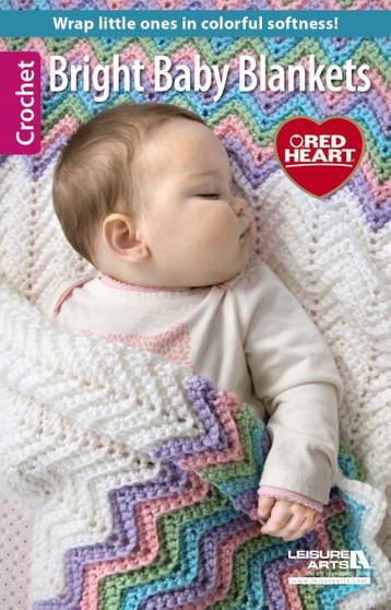 Leisure Arts Bright Baby Blankets Crochet Book