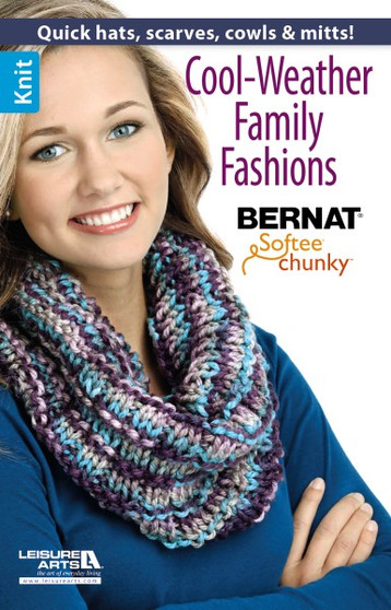 Leisure Arts Cool Weather Family Fashions Knit Book