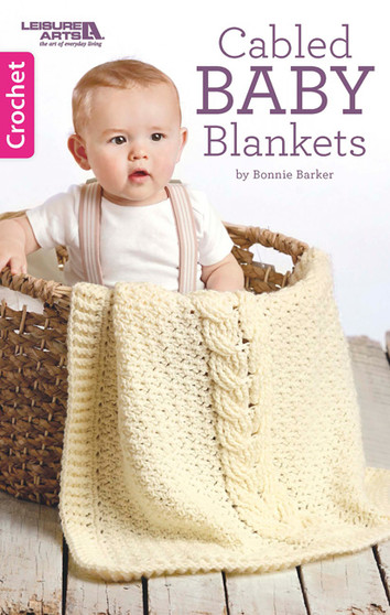 Leisure Arts Cabled Baby Blankets Crochet Book