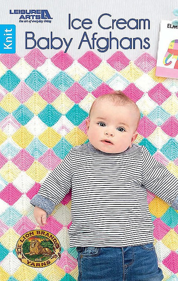 Leisure Arts Ice Cream Baby Afghans Knit Book