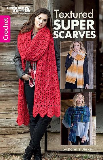 Leisure Arts Textured Super Scarves Crochet Book