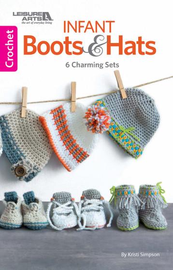 Leisure Arts Infant Boots & Hats Crochet Book