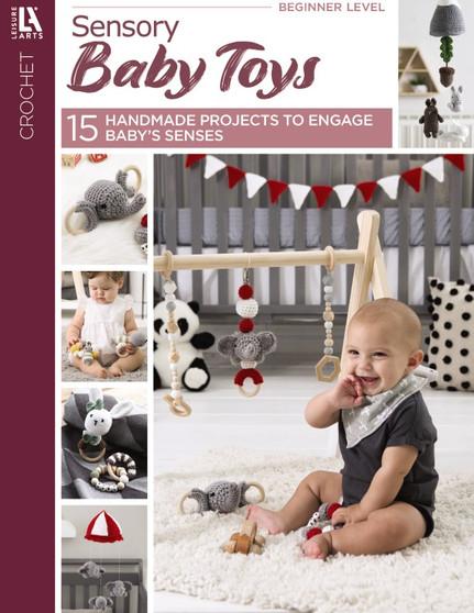 Leisure Arts Crochet Sensory Baby Toys Book