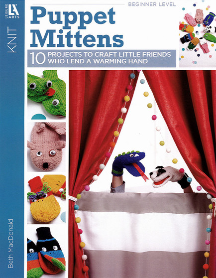 Leisure Arts Puppet Mittens Knit Book