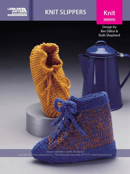 ePattern Knit Slippers