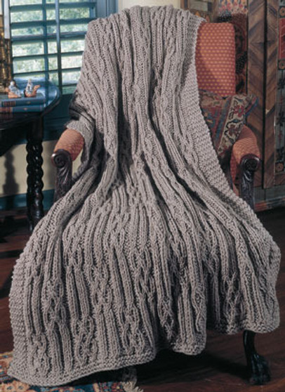 ePattern Cables and Twists Knit Afghan Pattern