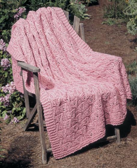 ePattern Pretty Knit Afghan Pattern