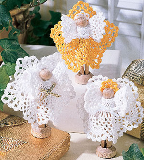 ePattern Clothespin and Thread Crochet Angel Pattern
