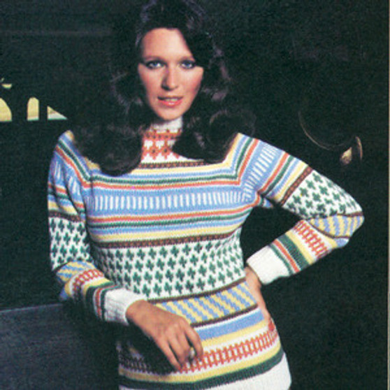 ePattern Multicolor Pullover