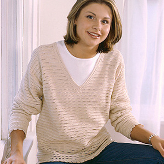 ePattern V-Neck Pullover