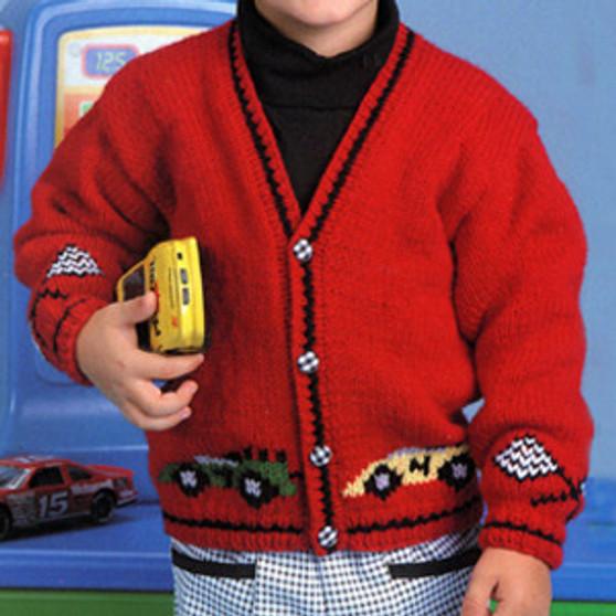 ePattern Race Car Sweater