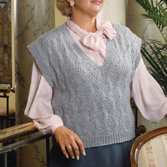 ePattern V Neck Diamond Pullover