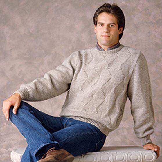 ePattern Men's Diamond Pullover