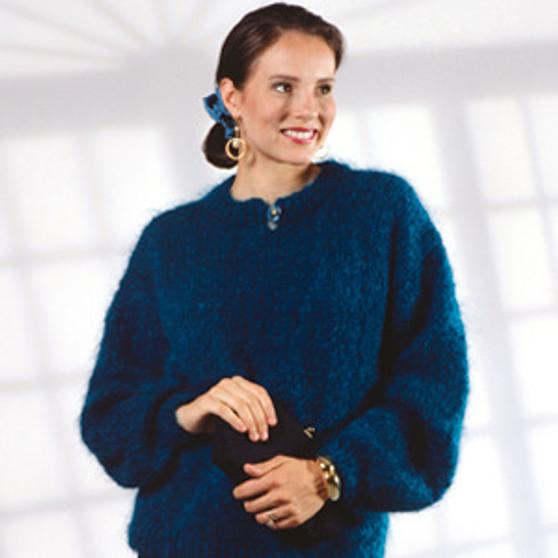 ePattern Button Slit-Neck Pullover