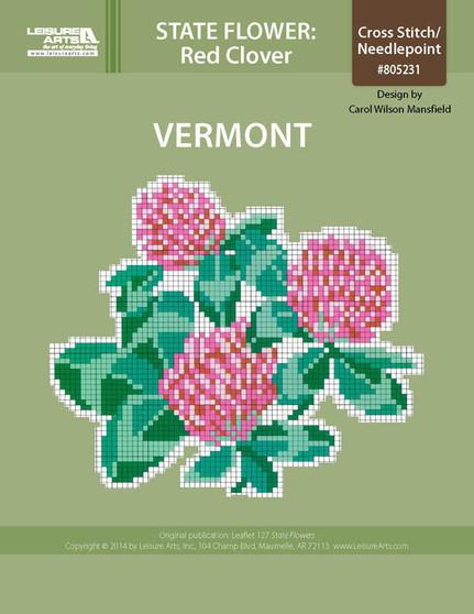 ePattern State Flowers: Vermont Red Clover