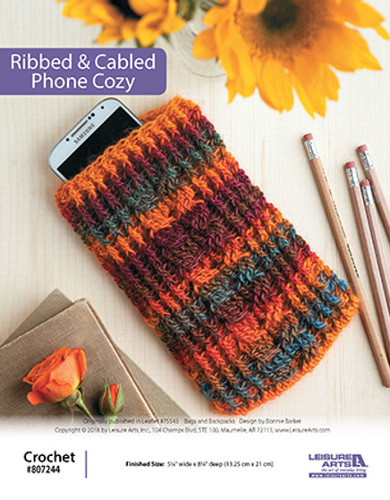 ePattern Ribbed & Cabled Phone Cozy