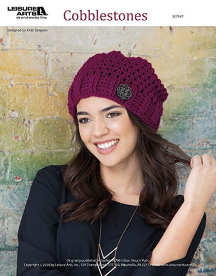"""Make a """"spot-on"""" Dots and Stripes quilt that baby is sure to love! Crochet a modern yet simple slouch hat, playfully named Cobblestones, with trendy details through every loop. Designed by Bonnie Oleson."""