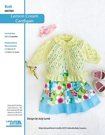 ePattern Lemon Cream Cardigan