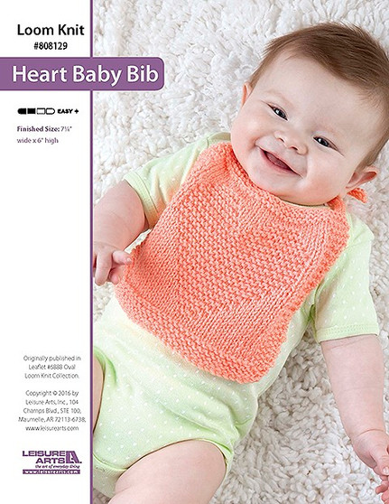 ePattern Heart Baby Bib