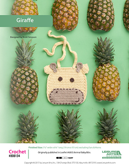 Keep baby clean while eating with an adorable crochet giraffe bib pattern.