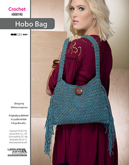 Are you a fanatic for a fringe design? Then crochet you new favorite accessory purse, uniquely called the Hobo Bag. Designed by Melissa Leapman.