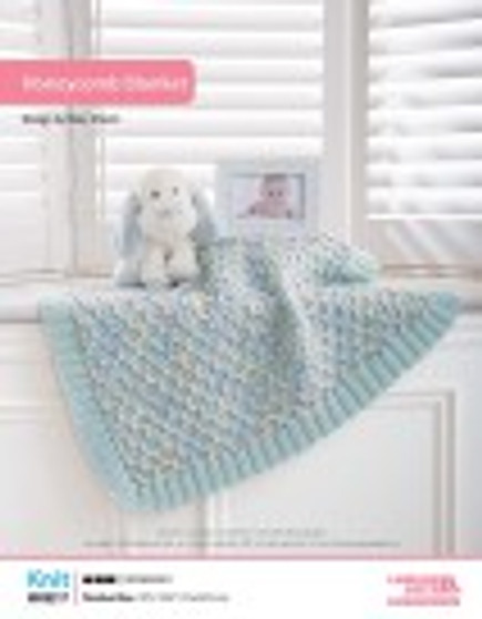 This knit honeycomb blanket is not only adorable but also great for snuggling up with baby.