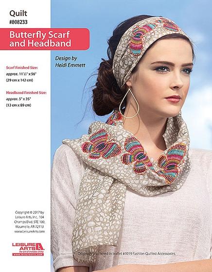ePattern Butterfly Scarf & Headband