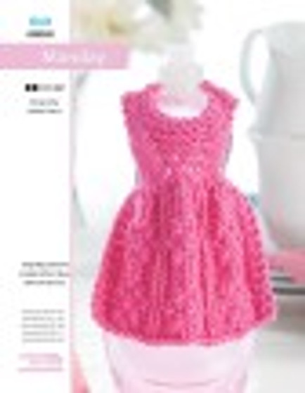 Though Monday may not be your favorite day of the week, this dishcloth dress knit is way too cute not to love! Designed by Debbie Trainor.