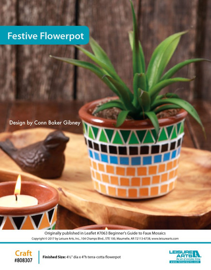 Perfect for your garden or window sill, this crafty flowerpot decor will keep your plants looking bright and safe. Designed by Conn Baker Gibney.