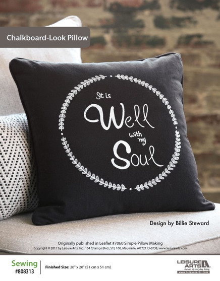 Perfect for an industrial-design lover or a simple design fan, this unique pillow sewing pattern will shine on any chair or bed around the house. Designed by Billie Steward.