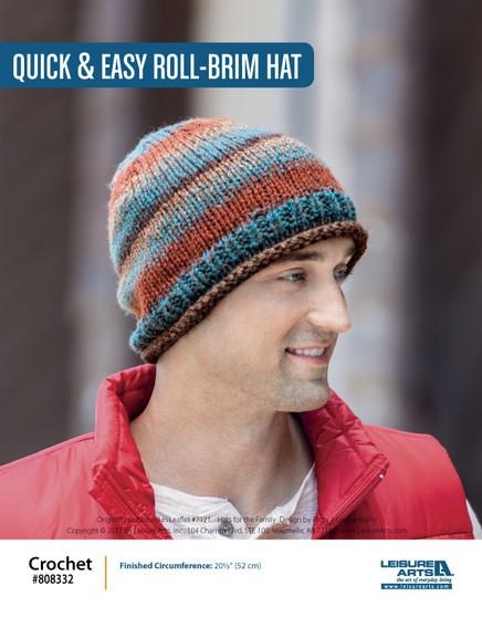 ePattern Quick & Easy Roll Brim Hat