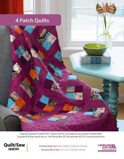 Try Projects with Pre-Cuts with a fun project called 4 Patch Quilt!