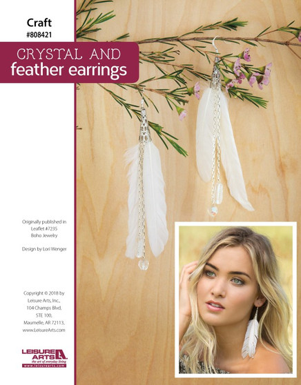Craft a beautiful Crystal and Feather Earrings!