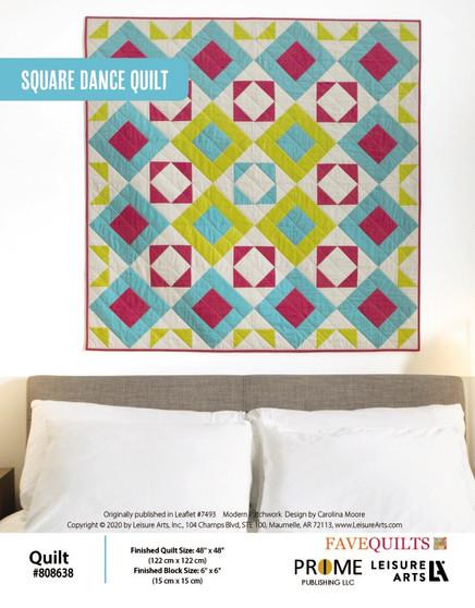 Square Dance Quilt ePattern originally published in leaflet #7493 Modern Patchwork, design by Carolina Moore.