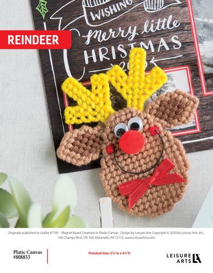 Reindeer plastic canvas ePattern, originally published in Leaflet #7749, Magnet Board Creations.