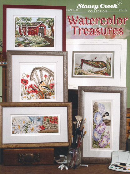 Stoney Creek Watercolor Treasures Cross Stitch Book